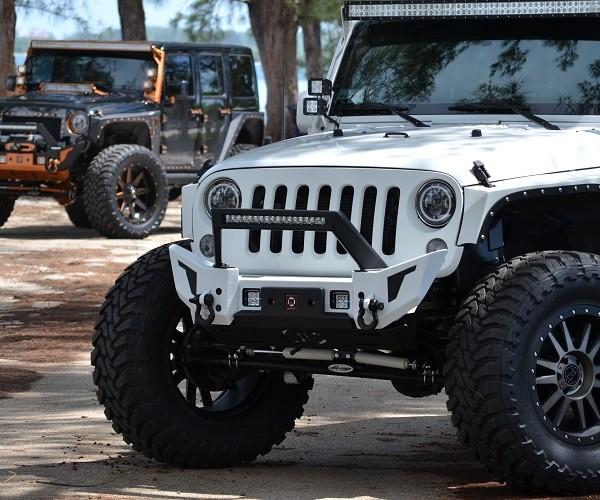 Proline 4wd equipment 4x4 jeep jk elite x con led jk front elite x bumper with led light bar mount aloadofball Choice Image