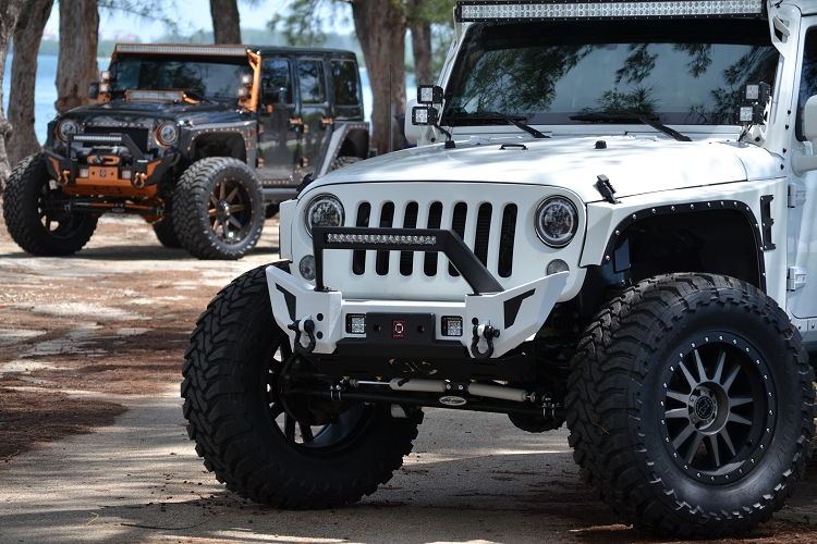 Proline 4wd equipment 4x4 jeep jk elite x con led jk front elite x bumper with led light bar mount aloadofball Gallery