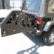 Jeep JK Parachoque trasero elite con porta caucho-2
